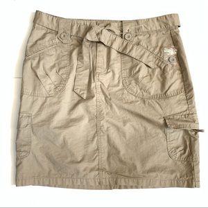 Rietmans Women's Khaki Cargo Skirt Size 14